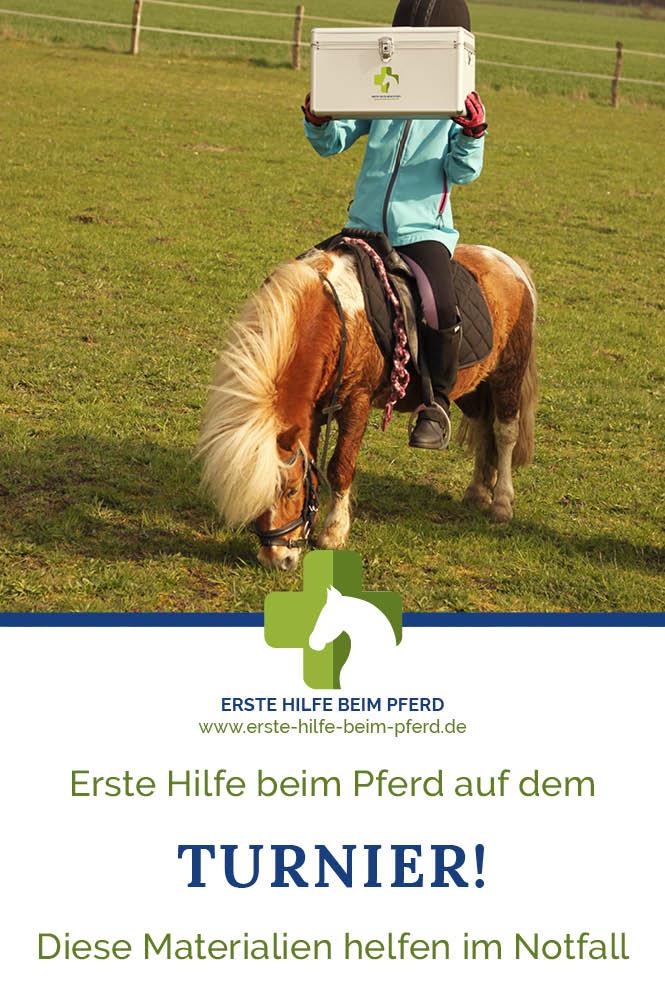 Erste Hilfe beim Pferd auf dem Turnier!