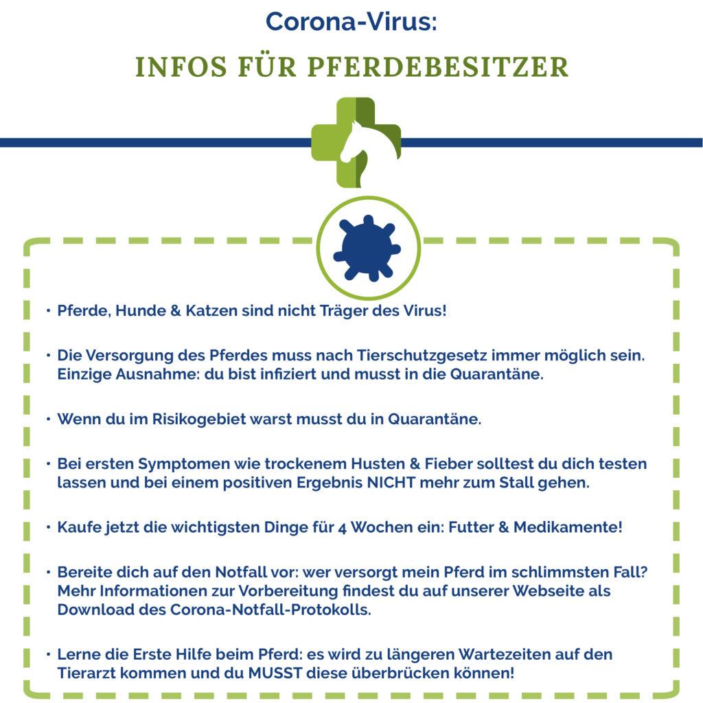 Pferdebesitzer: wichtige Informationen für die Corona-Krise